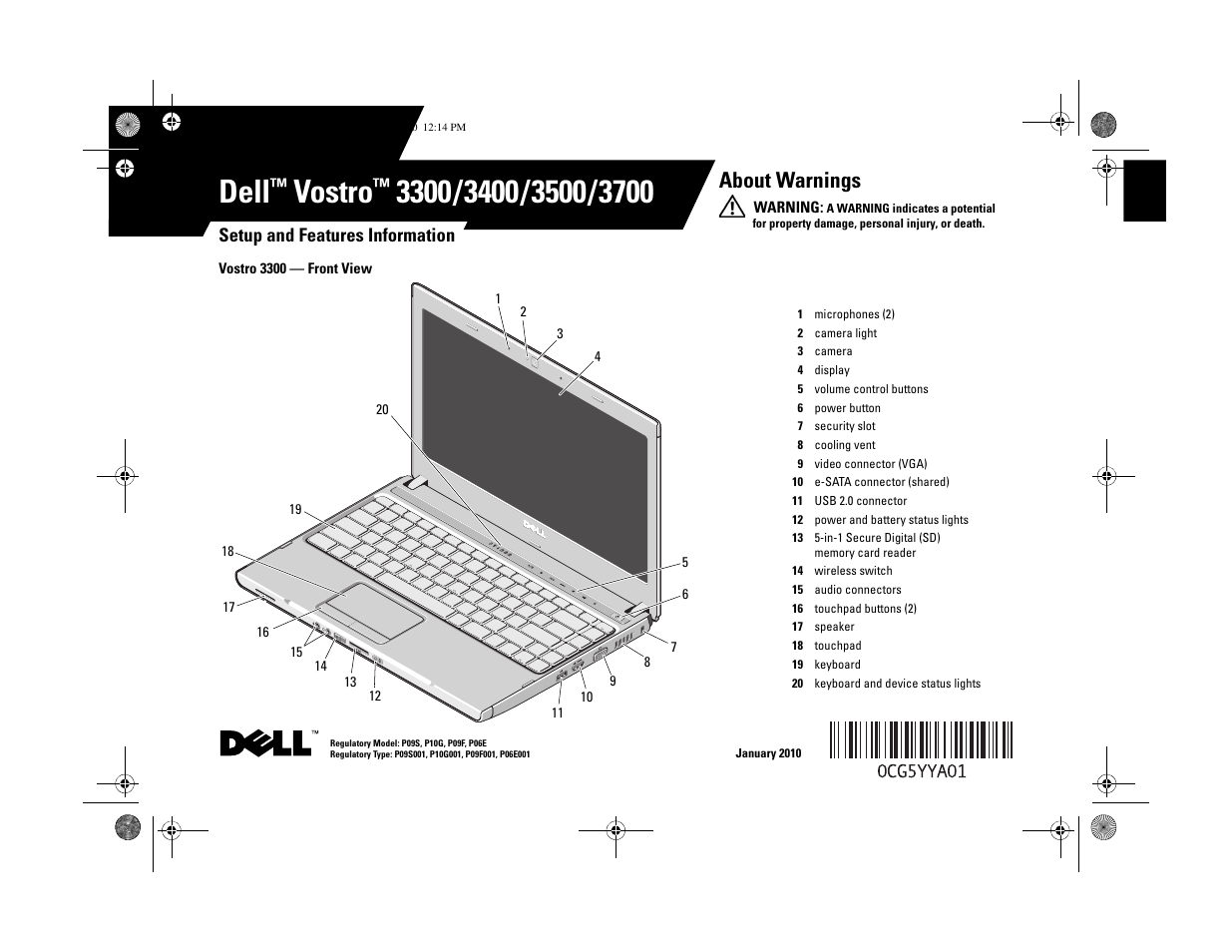 dell vostro 3700 early 2010 user manual 12 pages rh manualsdir com Vostro 3500 Motherboard Vostro 3500 Drivers