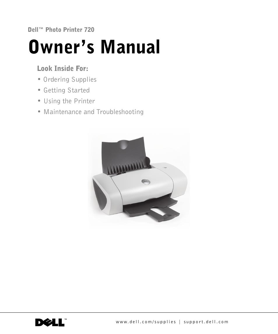 dell 720 color printer user manual 76 pages rh manualsdir com Dell 720 Ink Dell Color Printer 720