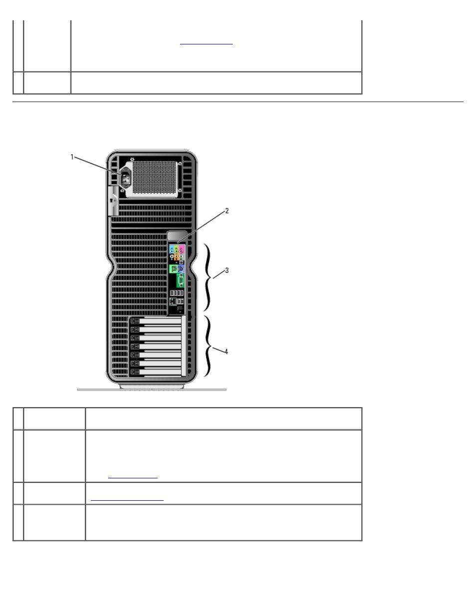 back view back i o connectors dell xps 710 user manual page 4 88 rh manualsdir com dell xps 7100 manual Dell XPS 720 Specs