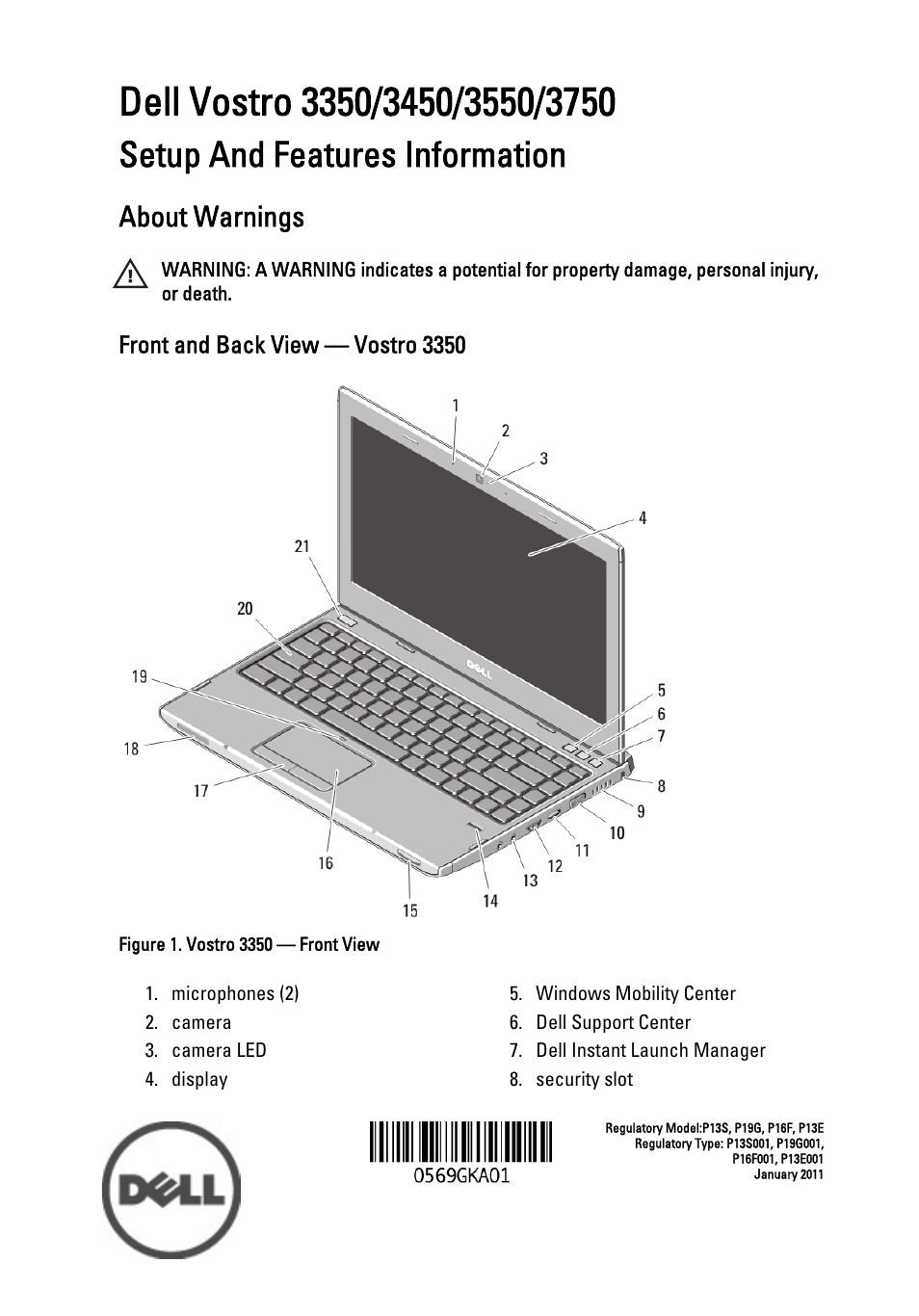 dell vostro 3450 early 2011 user manual 16 pages rh manualsdir com Dell Vostro 3550 Dell Vostro 3400