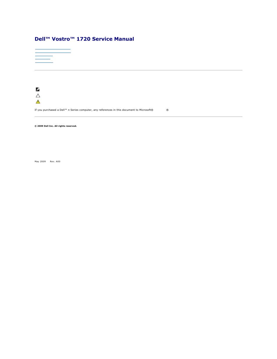 dell vostro 1720 early 2009 user manual 66 pages rh manualsdir com dell 1720 printer service manual dell 1720dn laser printer service manual
