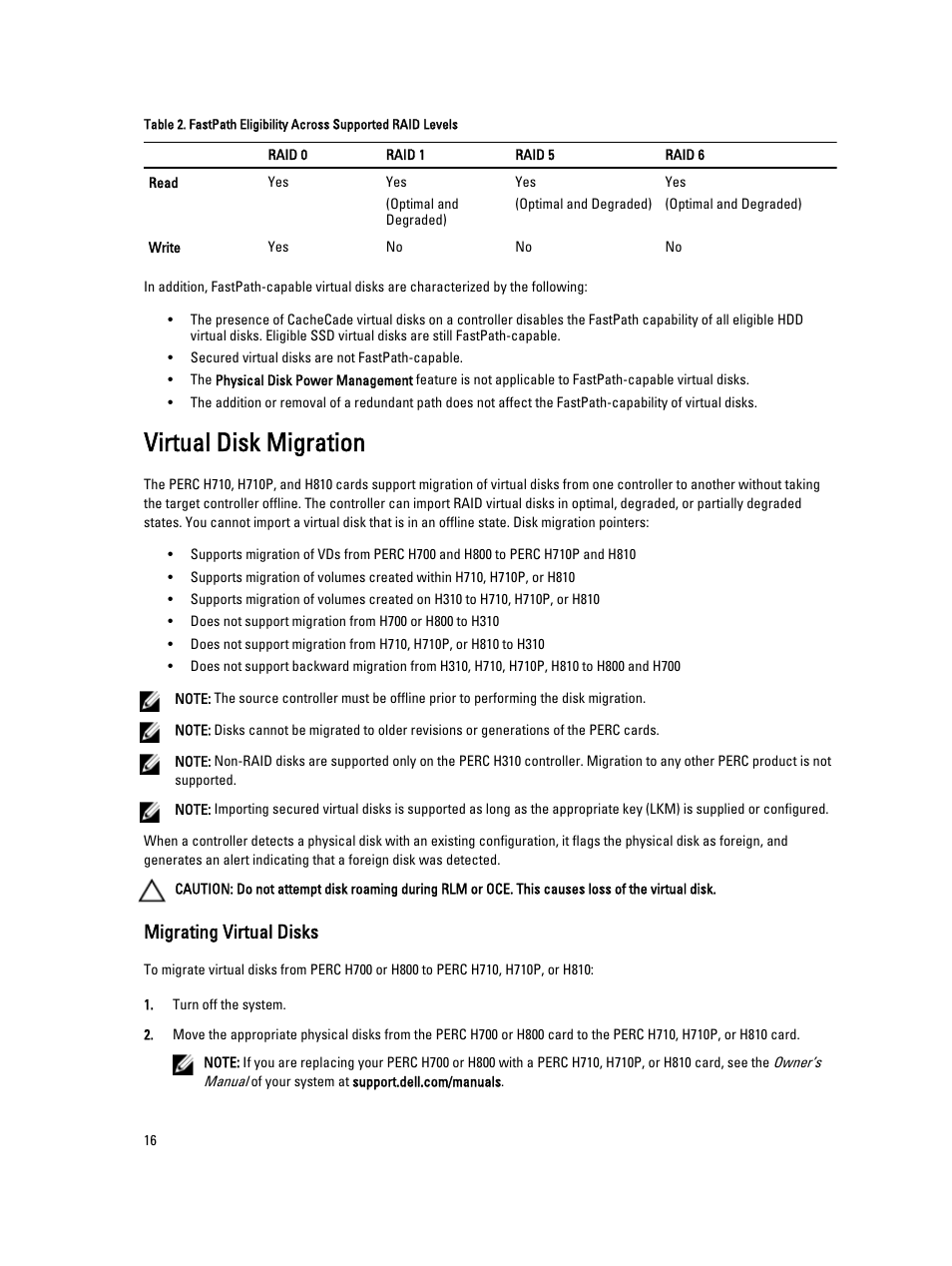 Virtual disk migration, Migrating virtual disks   Dell