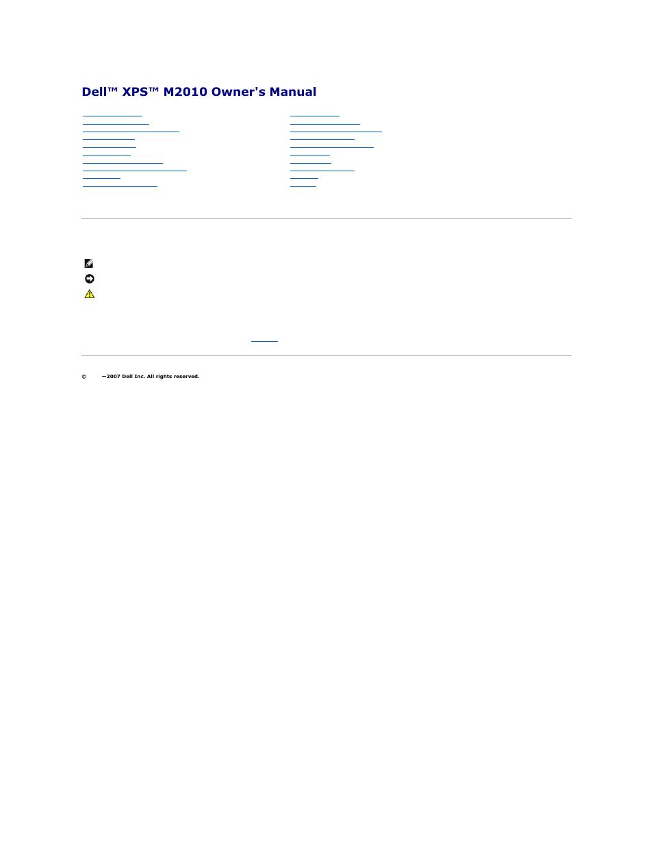dell xps m2010 mxp061 mid 2006 user manual 116 pages rh manualsdir com Dell XPS M2010 Keyboard Dell XPS L322X