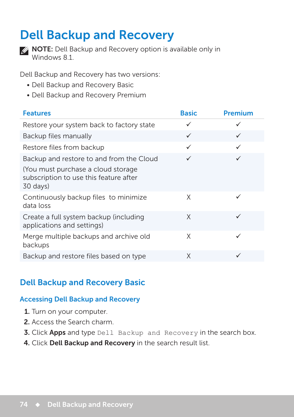 dell backup and recovery windows 8.1 factory image