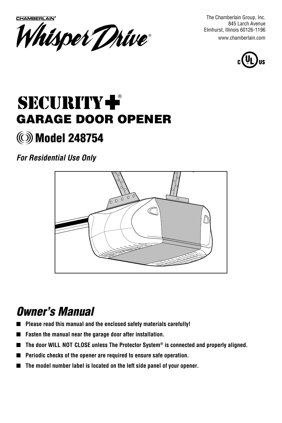 chamberlain whisper drive garage door opener wiring diagram