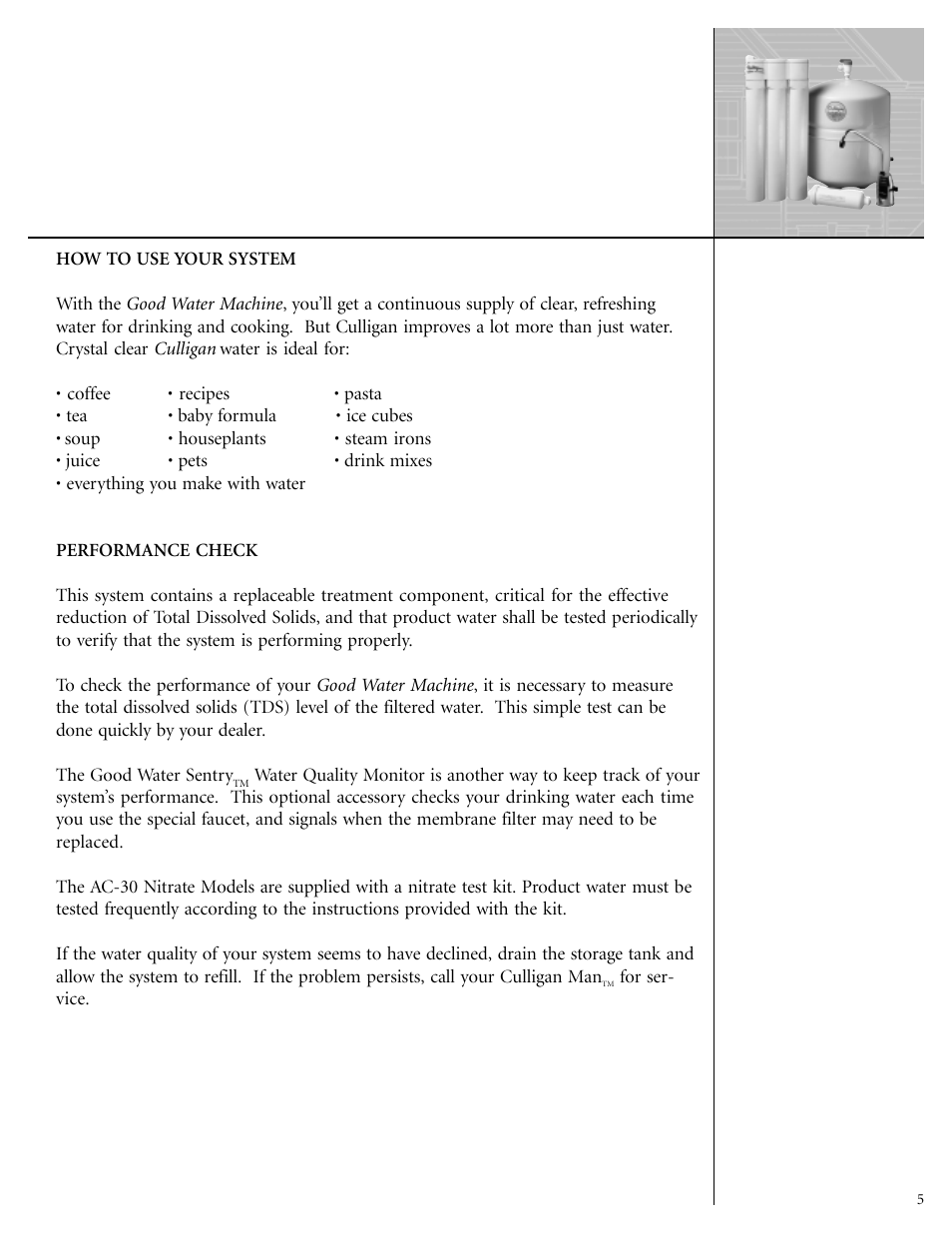 Culligan GoodWater Machine DrinkingWater System User Manual | Page 7 / 21