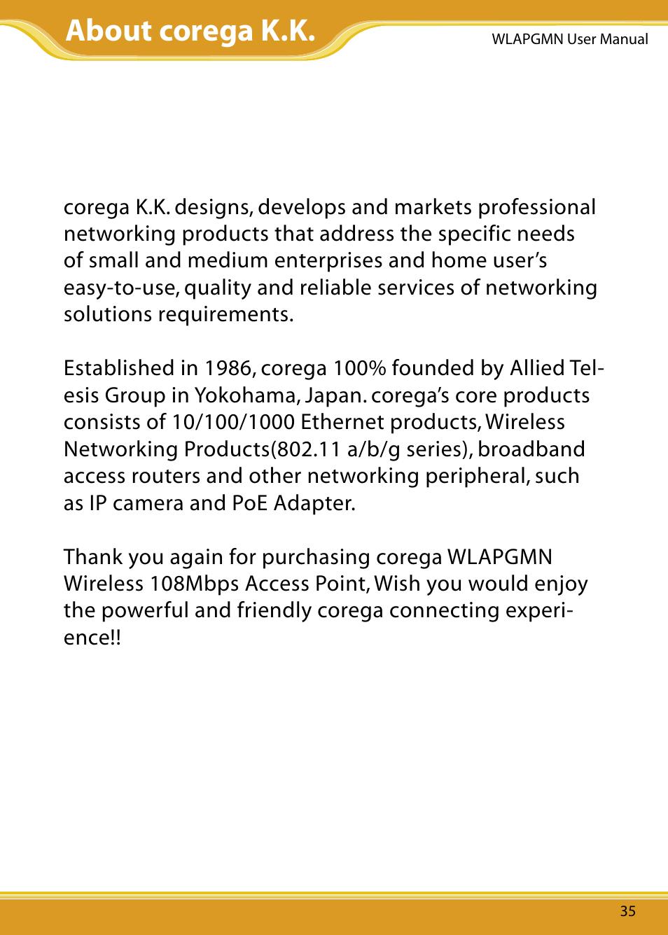 about corega k k corega cg wlapgmn user manual page 37 39 rh manualsdir com