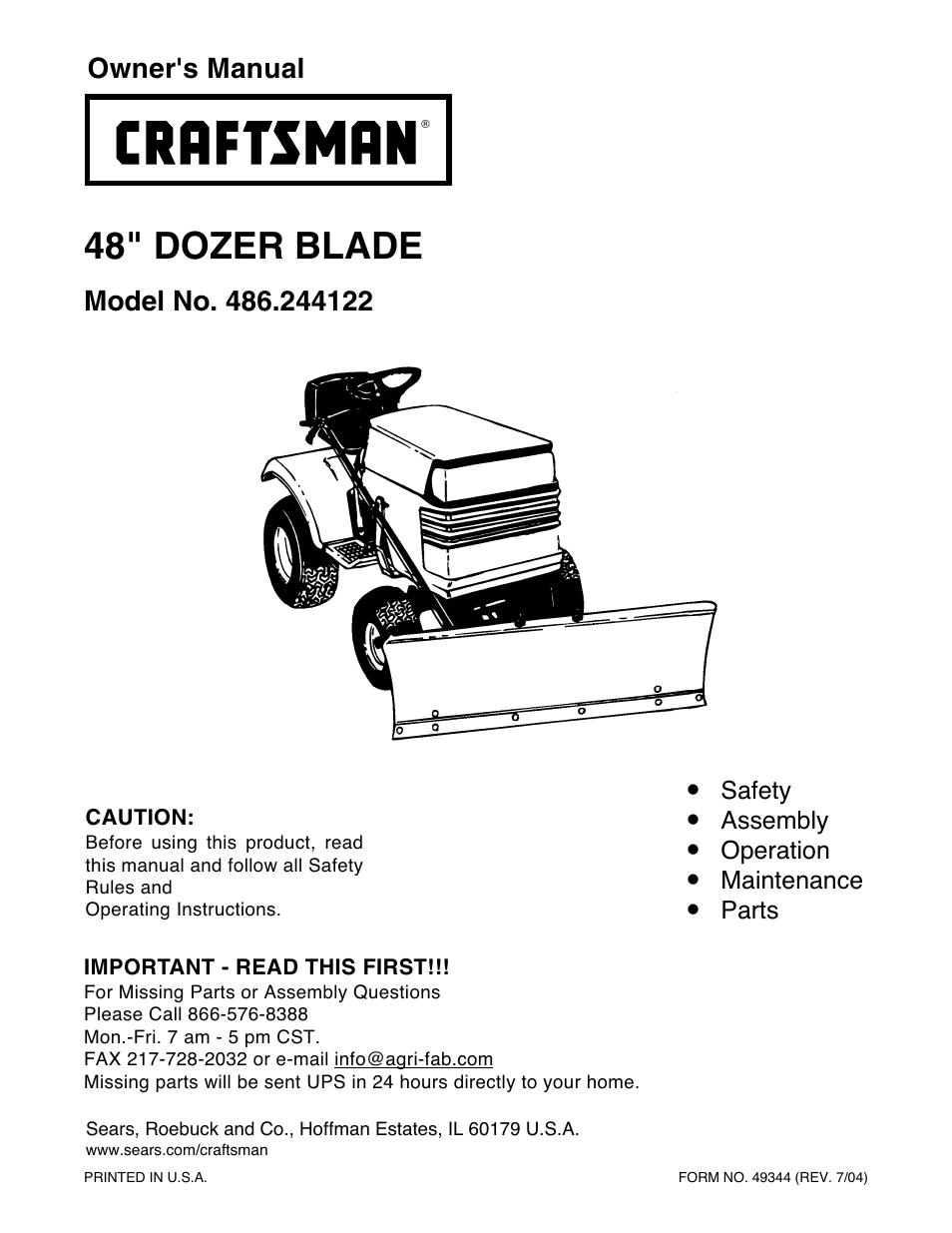 craftsman 486 244122 user manual 16 pages rh manualsdir com Craftsman Instruction Manual Craftsman Snow Thrower Manual