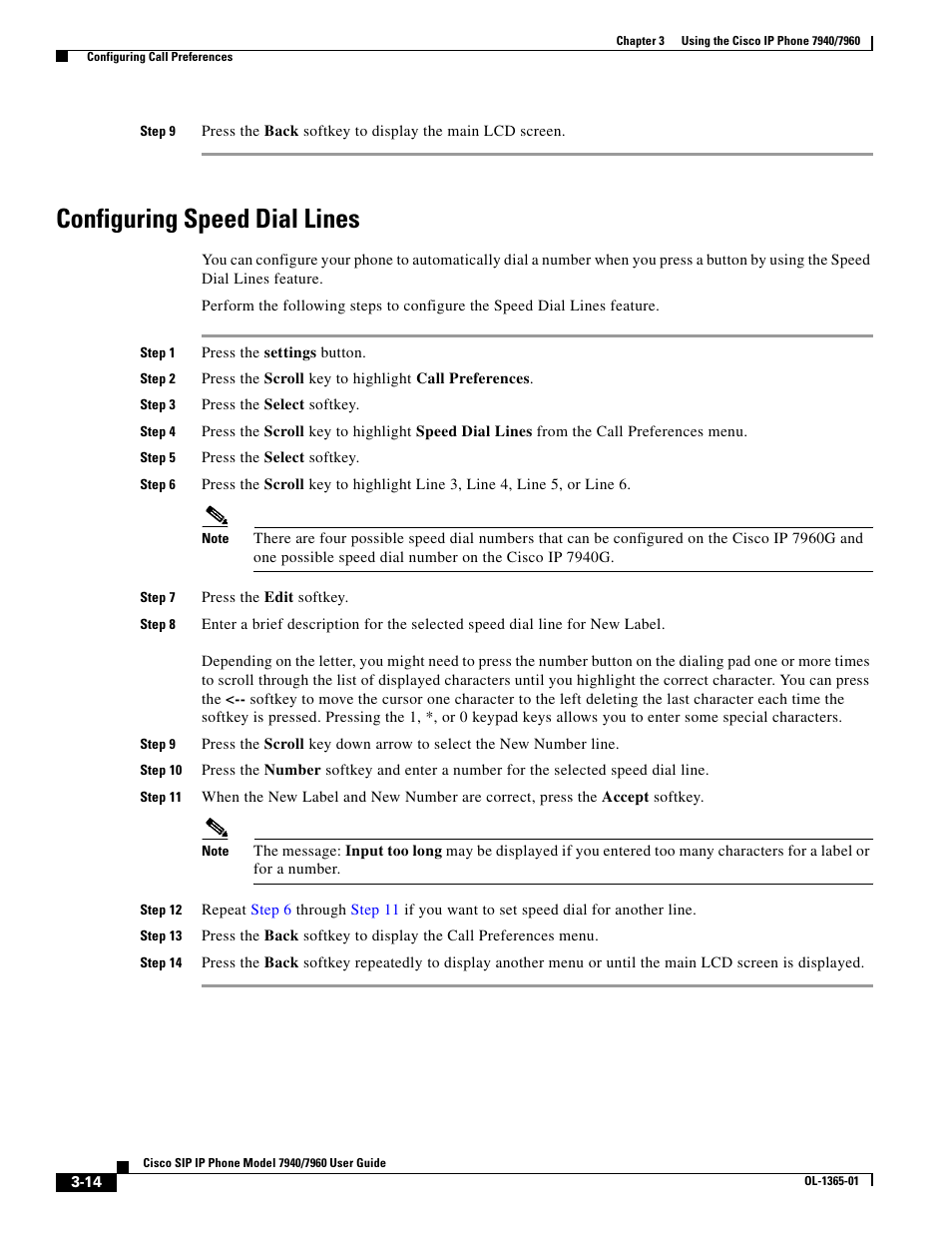 Configuring speed dial lines | Cisco ip phone 7960 User Manual