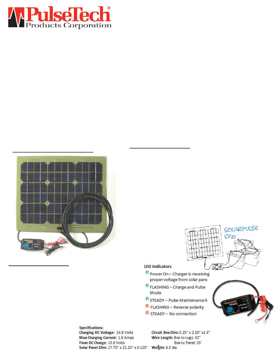 Pulsetech Sp 25 12v Solar Battery Charger Maintainer 735x325 User An Automatic Circuit For Sealed Lead Acid Batteries Is Manual 2 Pages