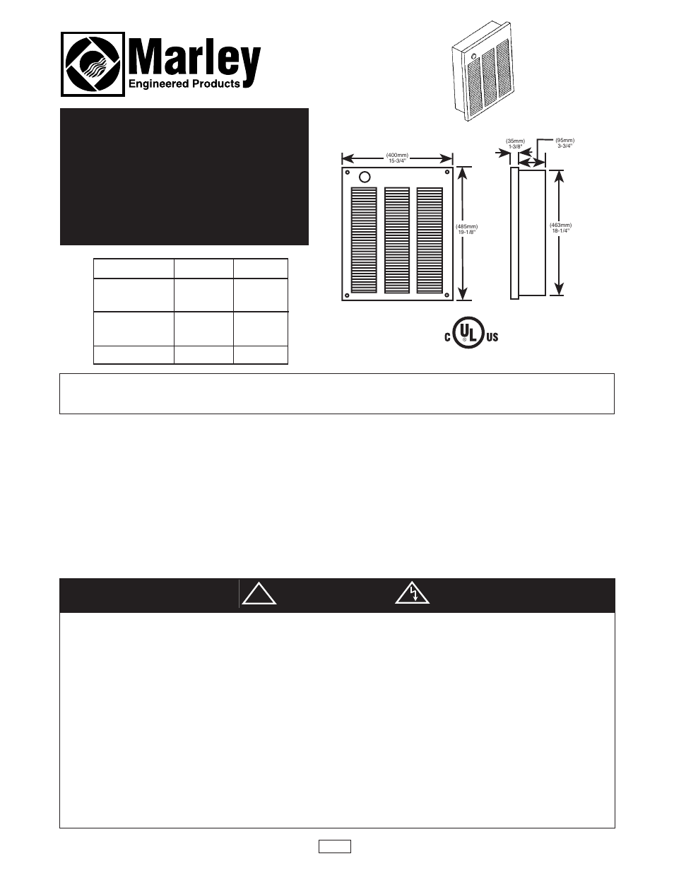 Qmark lfk series wall heater user manual 4 pages sciox Image collections