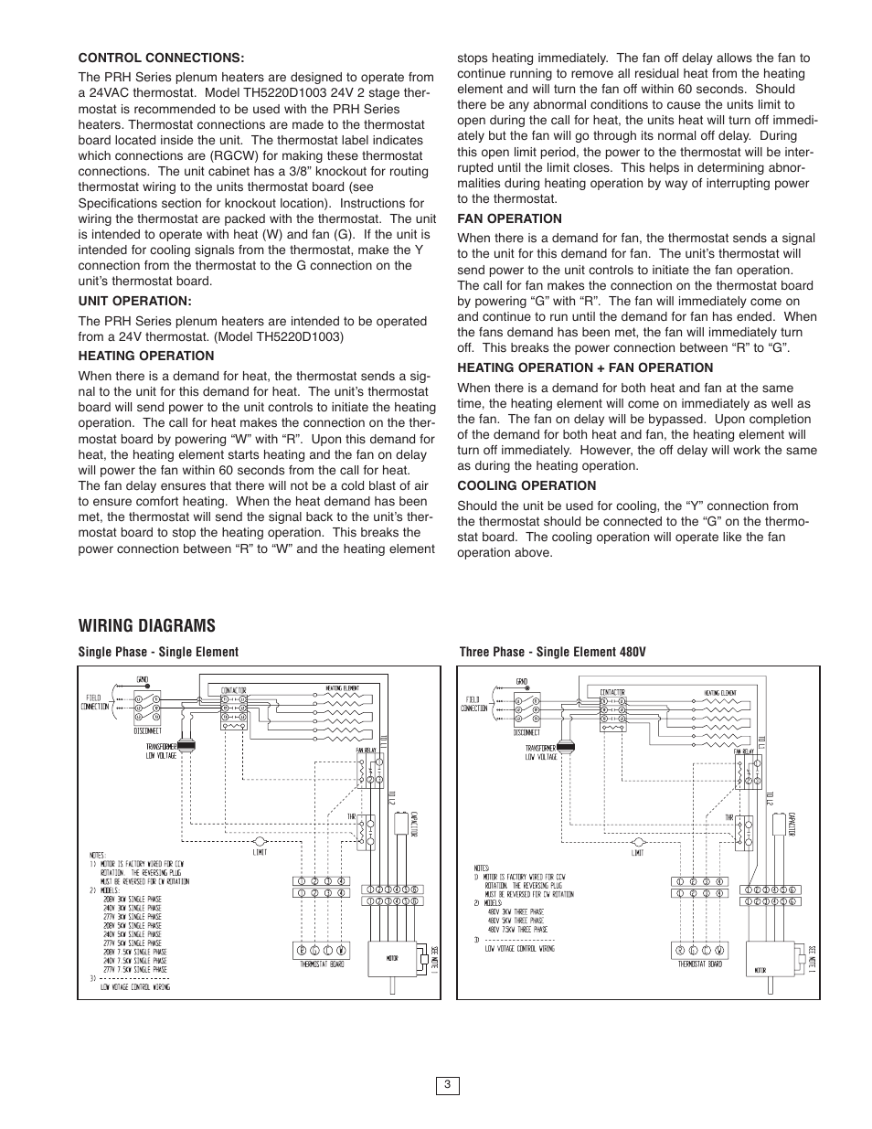 wiring diagrams qmark msph plenum rated unit heater user manual rh manualsdir com