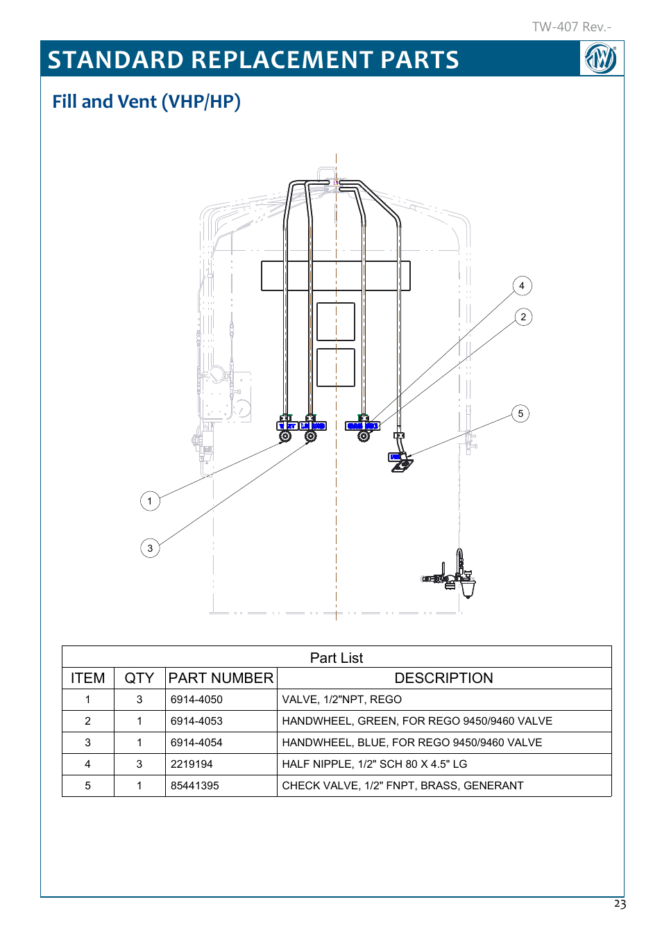 Taylor Parts Manual Halsey Wiring Diagram Standard Replacement Fill And Vent 954x1350