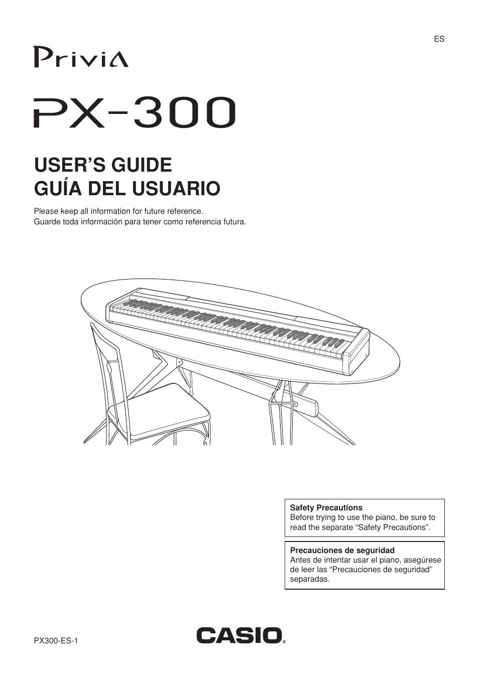 casio px300 user manual 37 pages original mode rh manualsdir com Casio Privia PX- 350 Casio Privia PX- 350