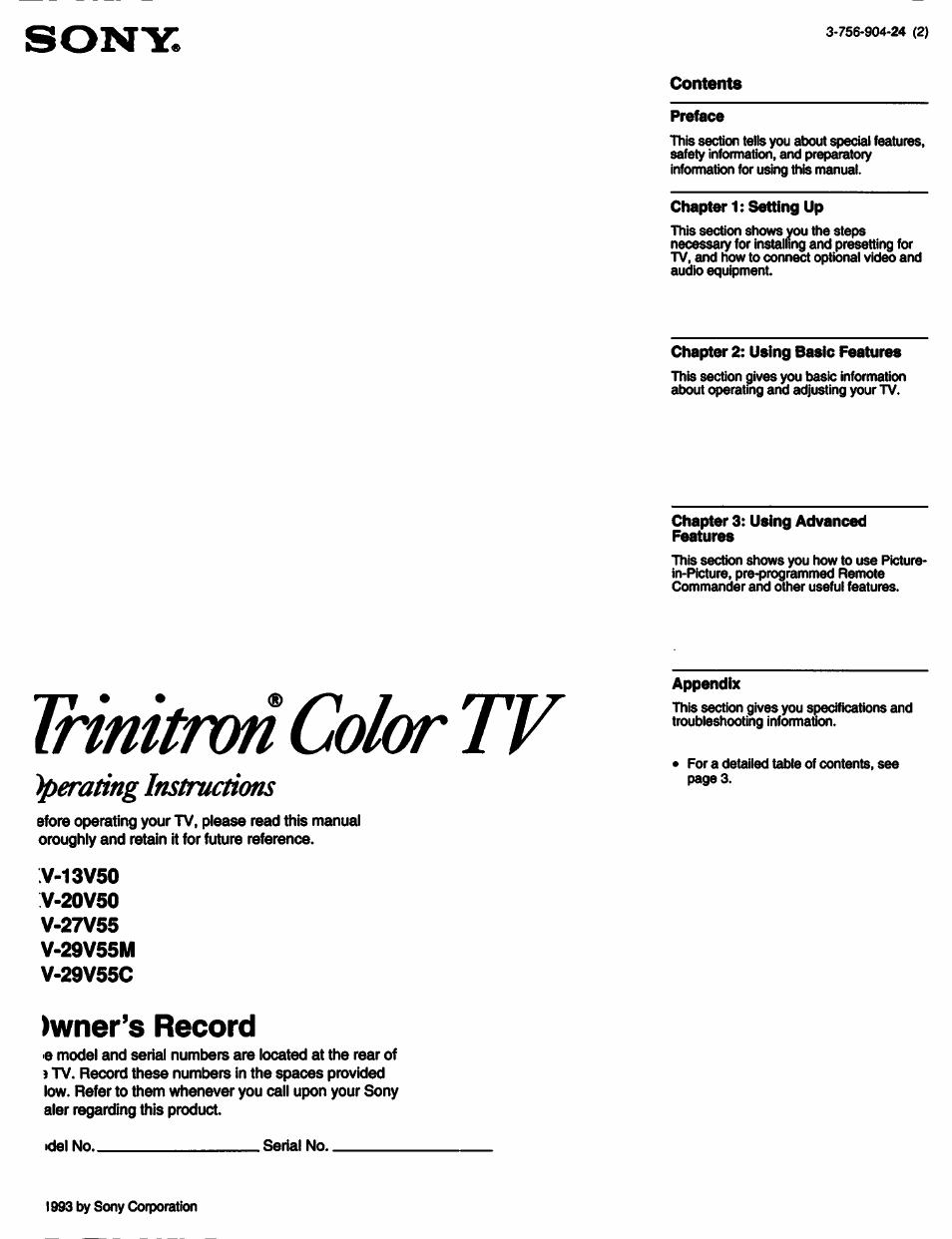 tv serial number lookup sony