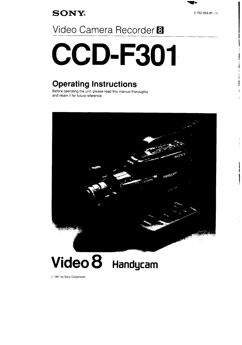 Sony CCD-F301 User Manual   31 pages
