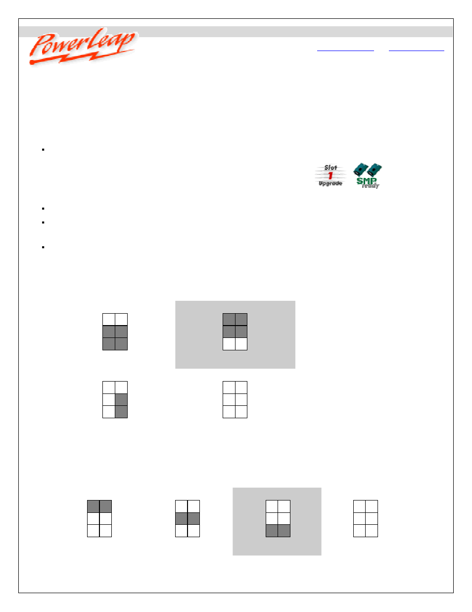 Compaq PowerLeap PL-P3/SMP User Manual   6 pages   Also for