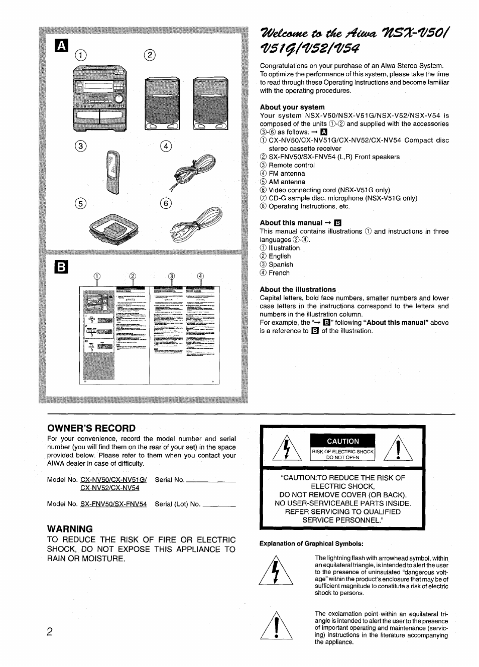 about your system about this manual m about the illustrations rh manualsdir com Aiwa Nsx D707 Aiwa Nsx T939