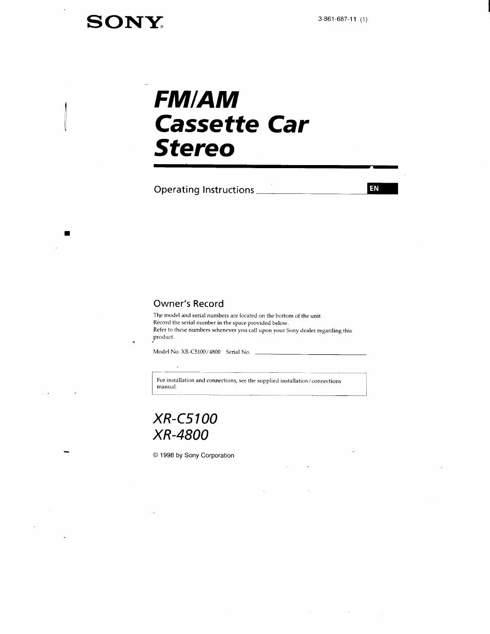 Sony Car Radio Manuals
