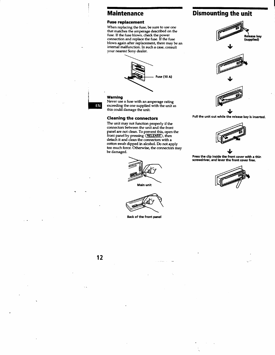 Sony Cdx 4180 User Manual