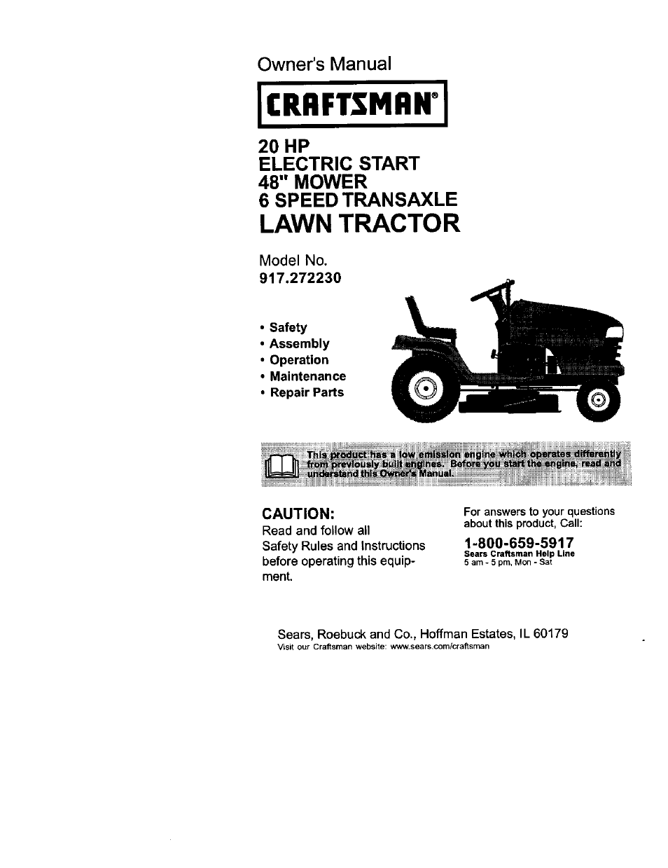 Craftsman 917 272230 User Manual