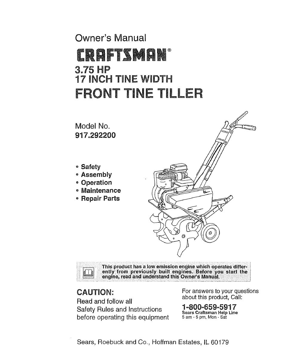 Craftsman 917 2922 User Manual 32 Pages