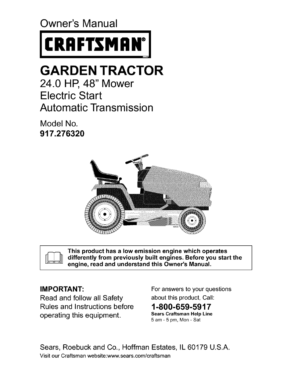 Craftsman 917 276320 User Manual