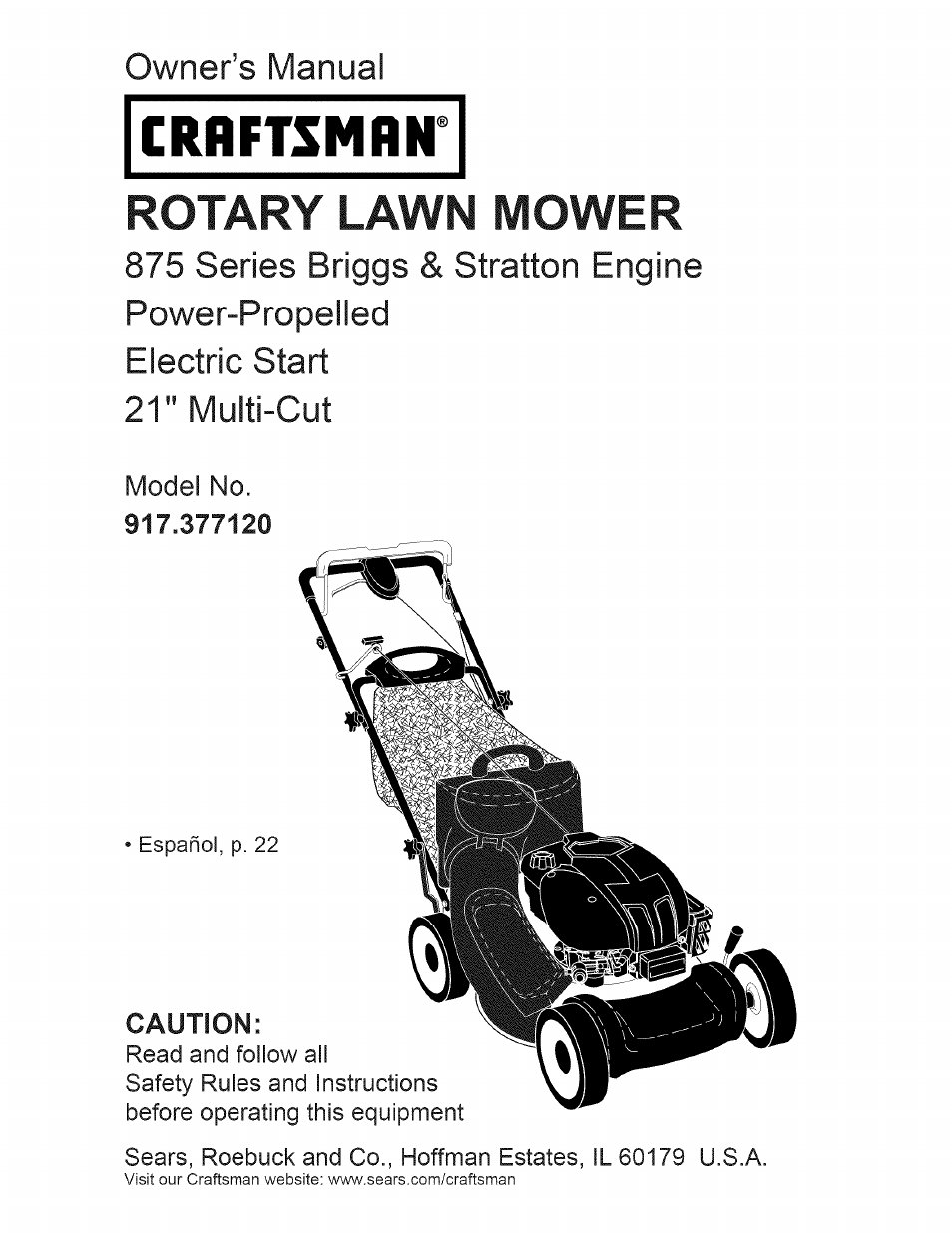 craftsman 917 377120 user manual 56 pages rh manualsdir com Craftsman Lawn Mower Belts Diagram Craftsman 6.0 Lawn Mower Parts