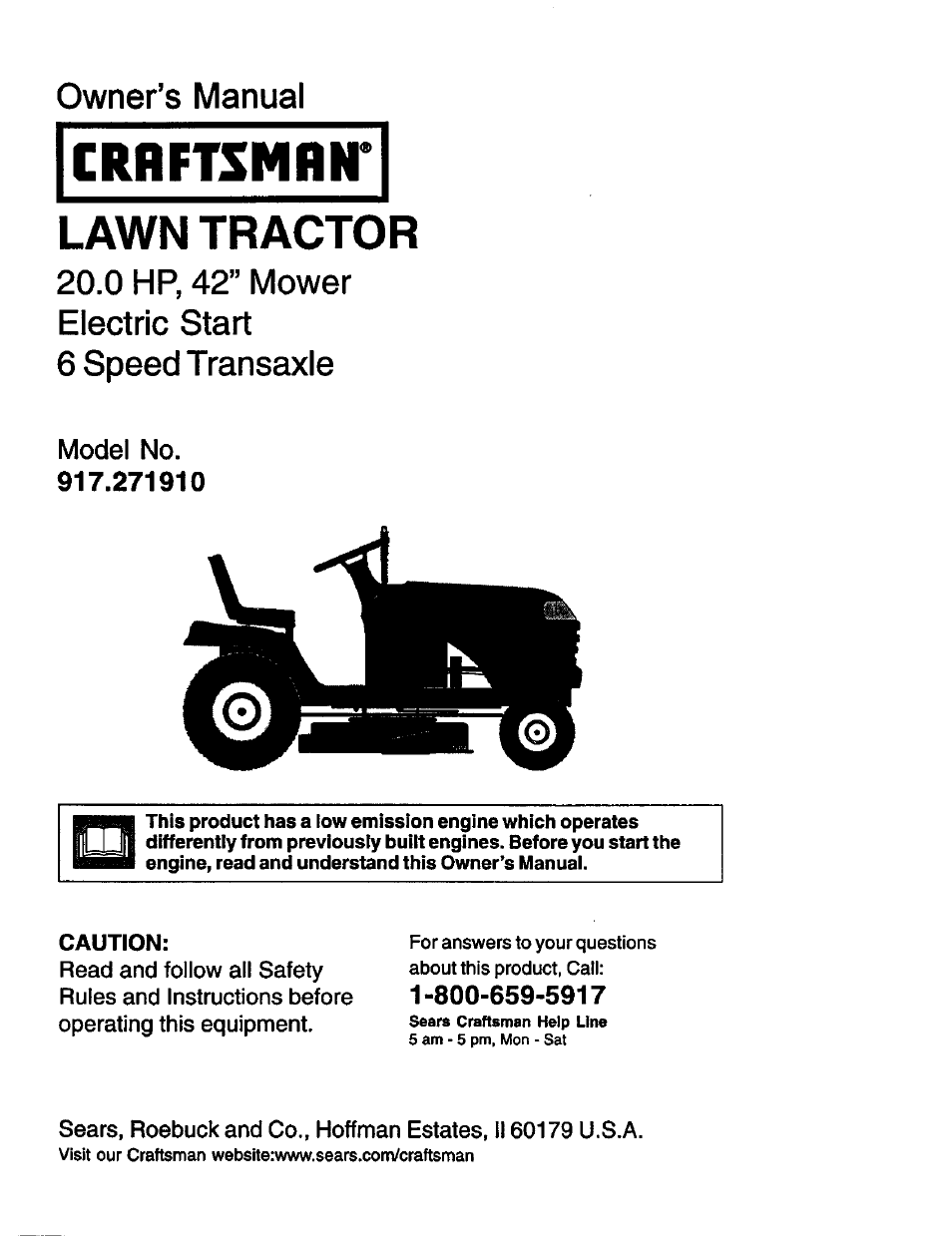 craftsman 917 271910 user manual 56 pages rh manualsdir com craftsman owners manuals online craftsman owners manuals free