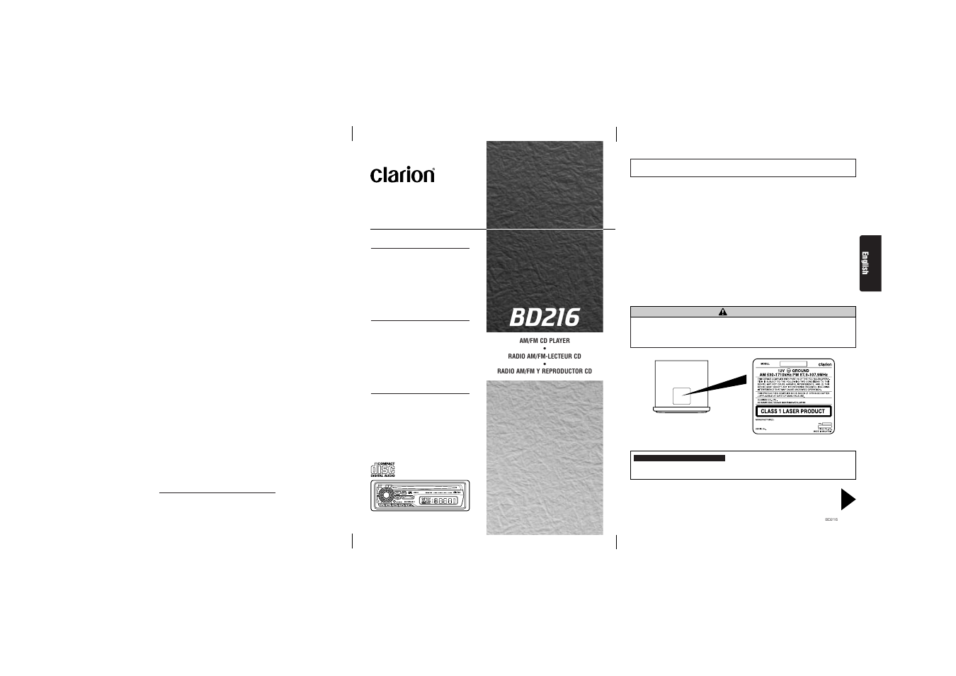 Clarion Bd216 Wiring Diagram And Schematics Free
