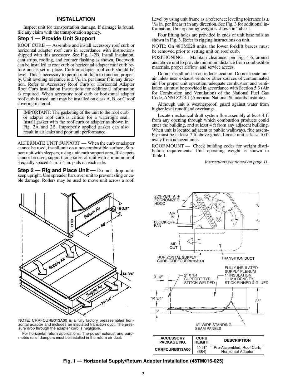 Carrier 48tm016 028 User Manual Page 2 60