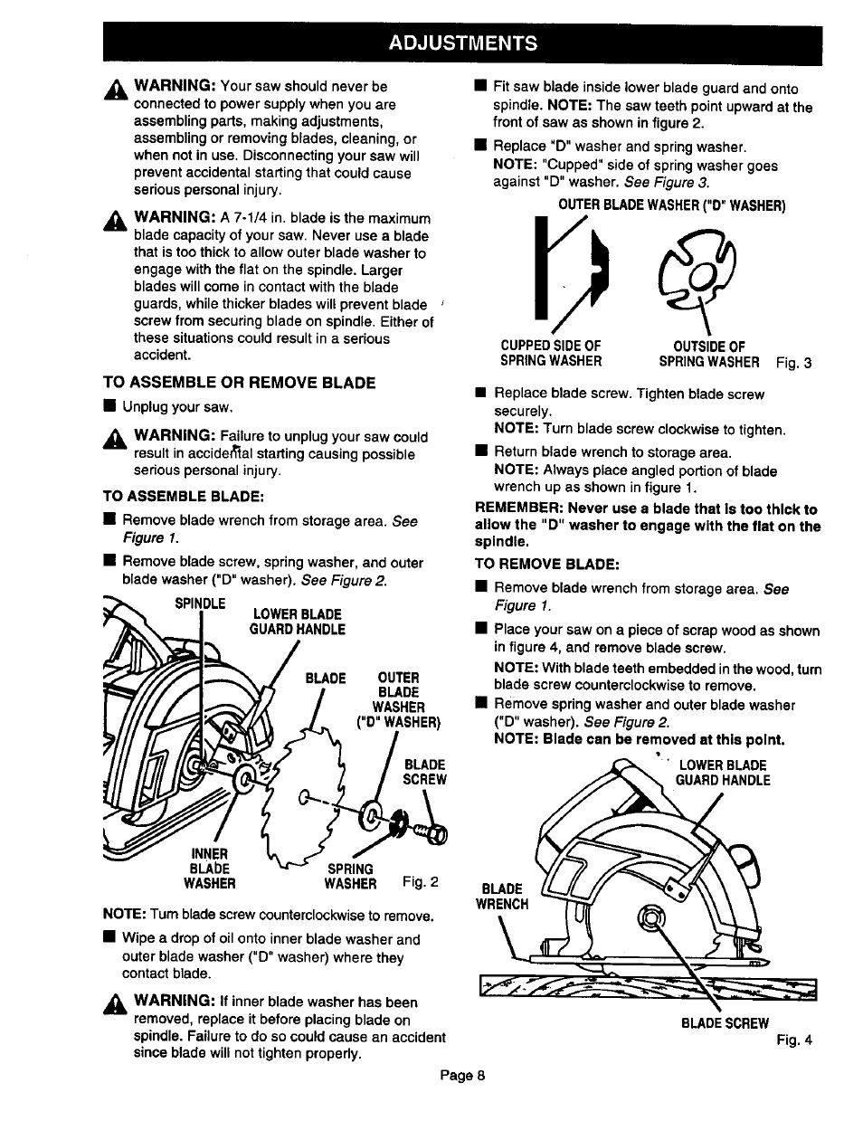 to assemble or remove blade adjustments craftsman 315 108340 user rh manualsdir com Craftsman Snow Blower Manuals 24788190 0 Craftsman Instruction Manual
