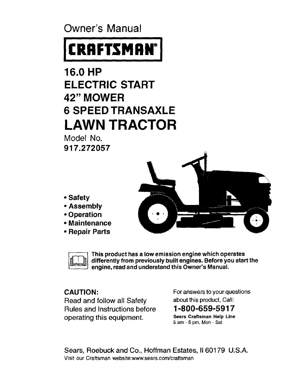 Craftsman 917 272057 User Manual | 60 pages
