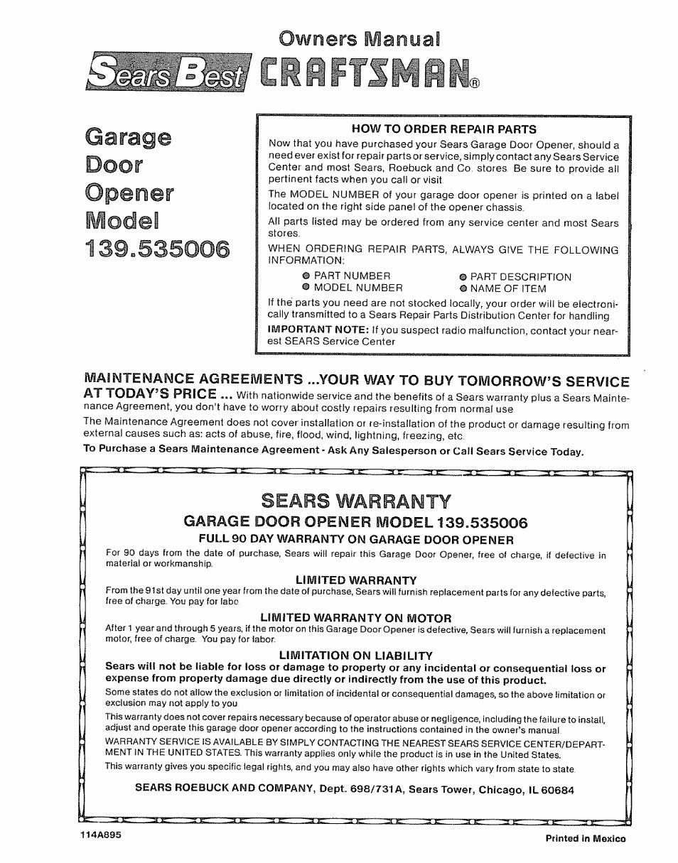 Sears Garage Door Opener Service Center Garage Door Ideas