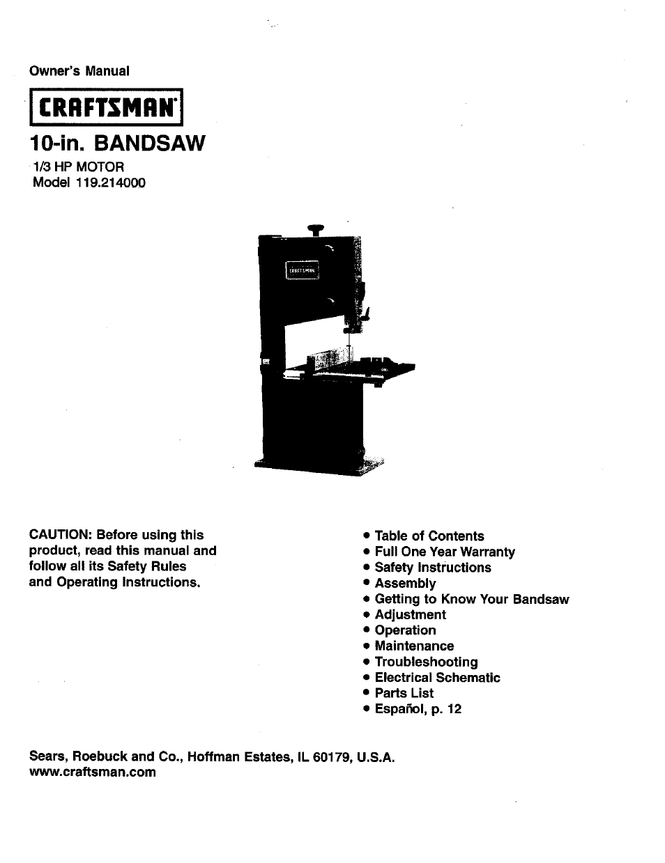 Craftsman 119.214000 User Manual | 20 pages on transformer schematics, electronics schematics, piping schematics, tube amp schematics, ford diagrams schematics, design schematics, plumbing schematics, engineering schematics, engine schematics, amplifier schematics, electrical schematics, ecu schematics, ignition schematics, generator schematics, transmission schematics, computer schematics, ductwork schematics, circuit schematics, motor schematics, wire schematics,