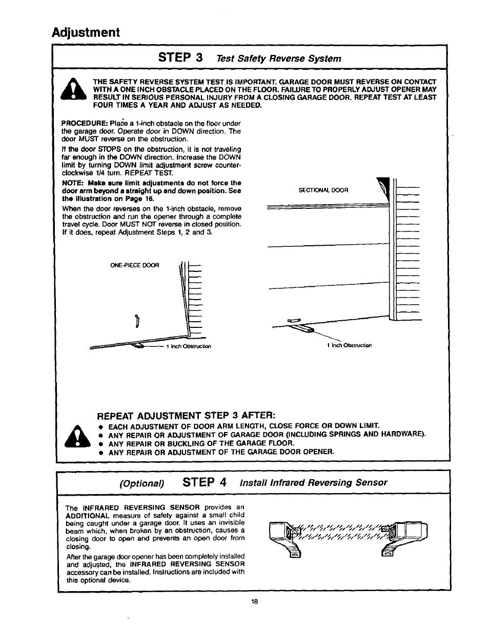 Repeat Adjustment Step 3 After Adjustment Step 3 Step 4