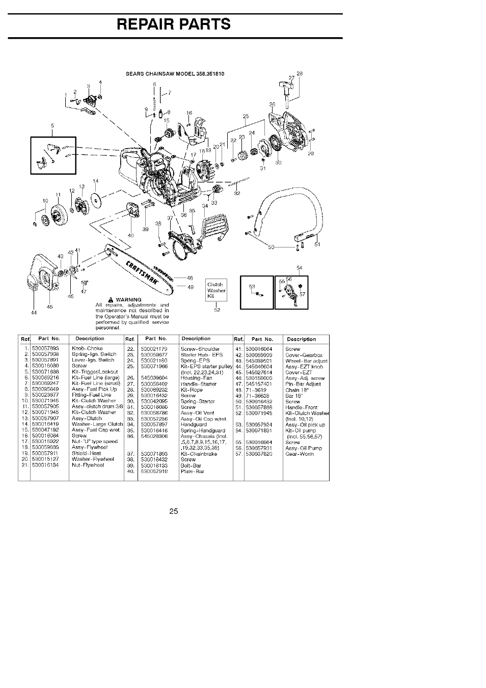 poulan 18 chain saw parts diagram