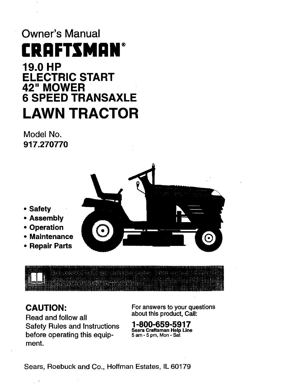 craftsman 917 270770 user manual 60 pages rh manualsdir com Craftsman Lawn Mower Repair Parts Craftsman 6.0 Lawn Mower Parts
