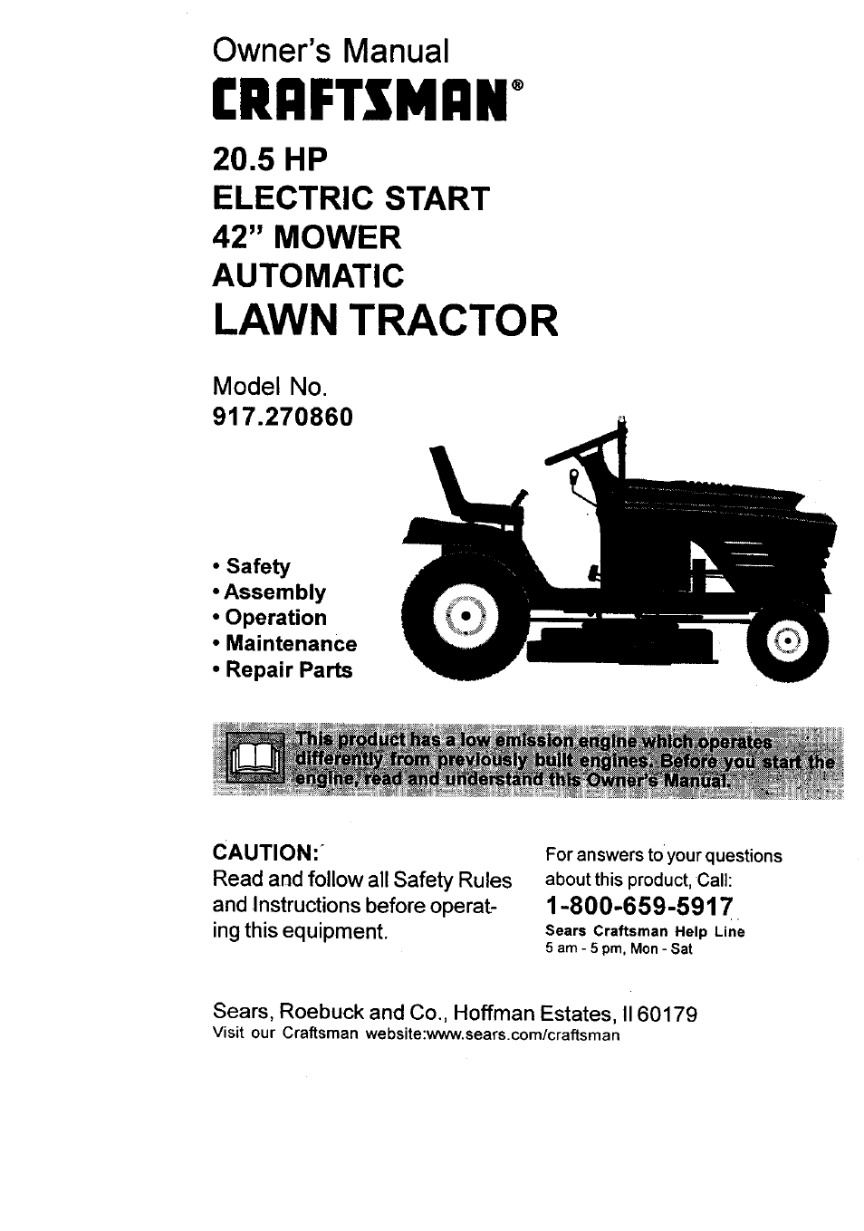 sears craftsman lawn mower repair manual
