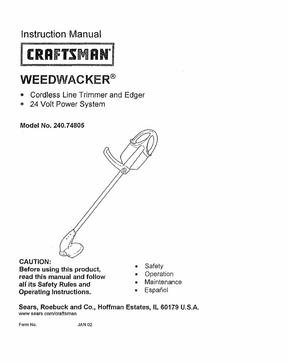 Craftsman model 316791190 line trimmers/weedwackers, gas genuine parts.