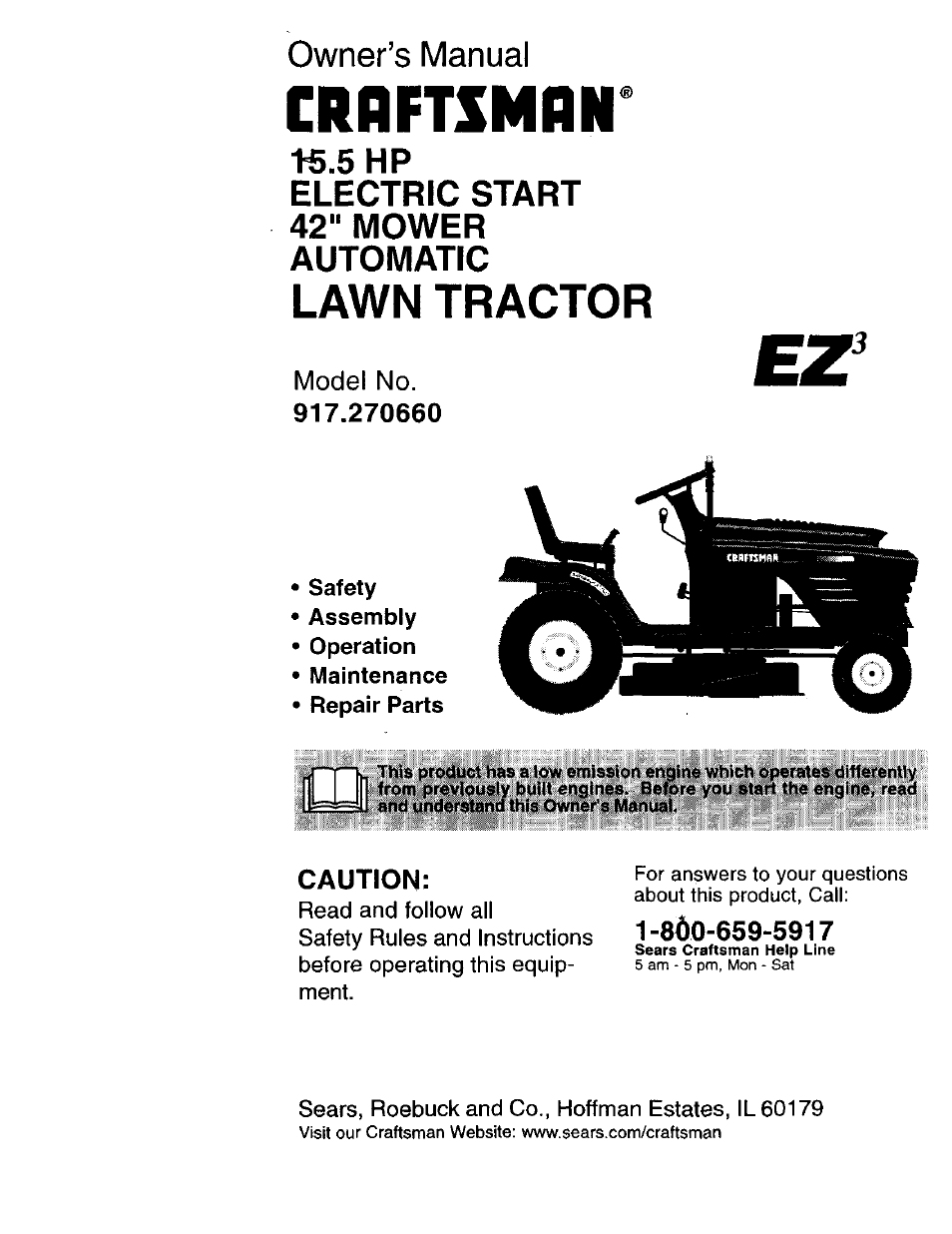 Craftsman 917 270660 User Manual