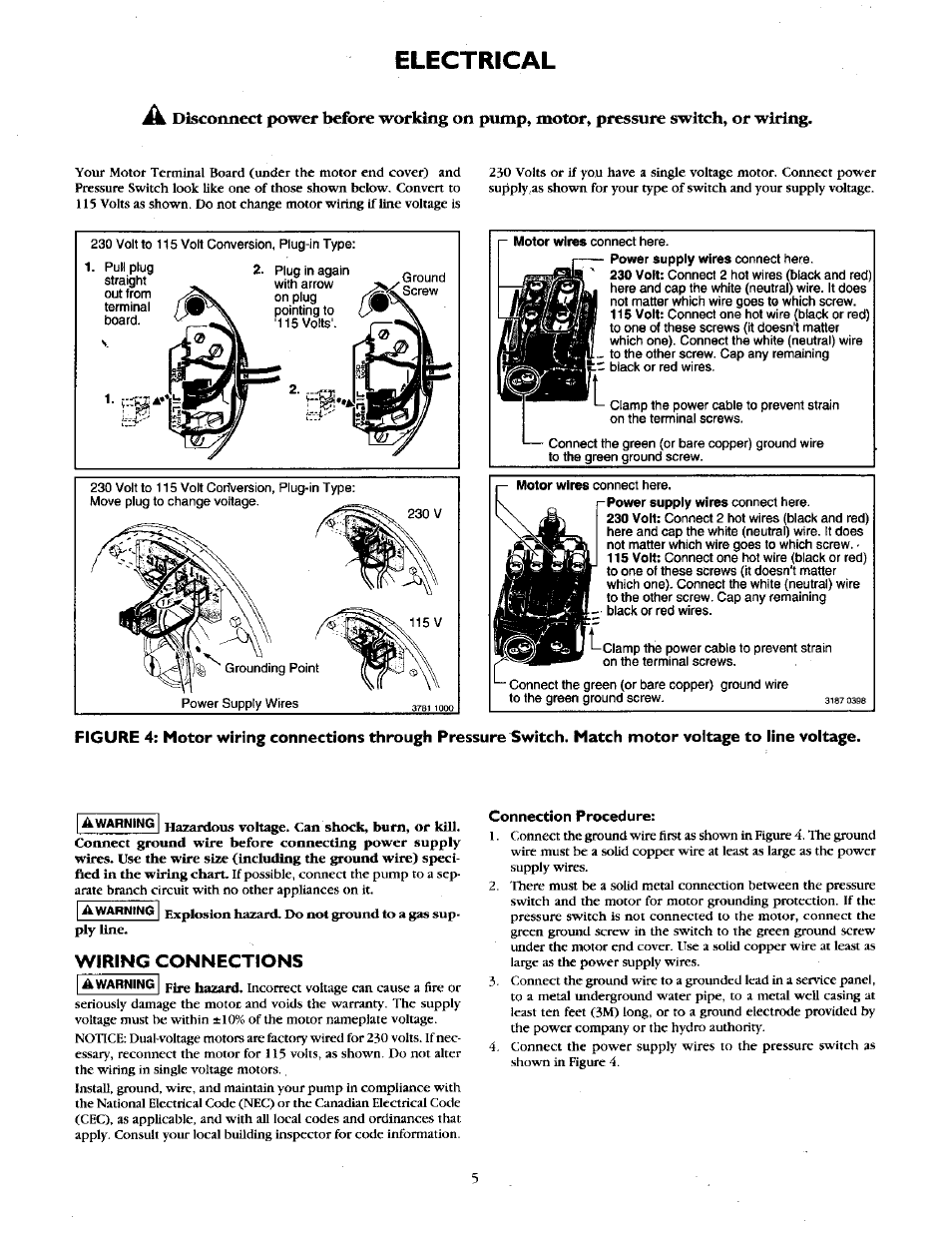 Electrical Wiring Connections Craftsman 390251883 User Manual Neutral Hot Ground Page 5 12