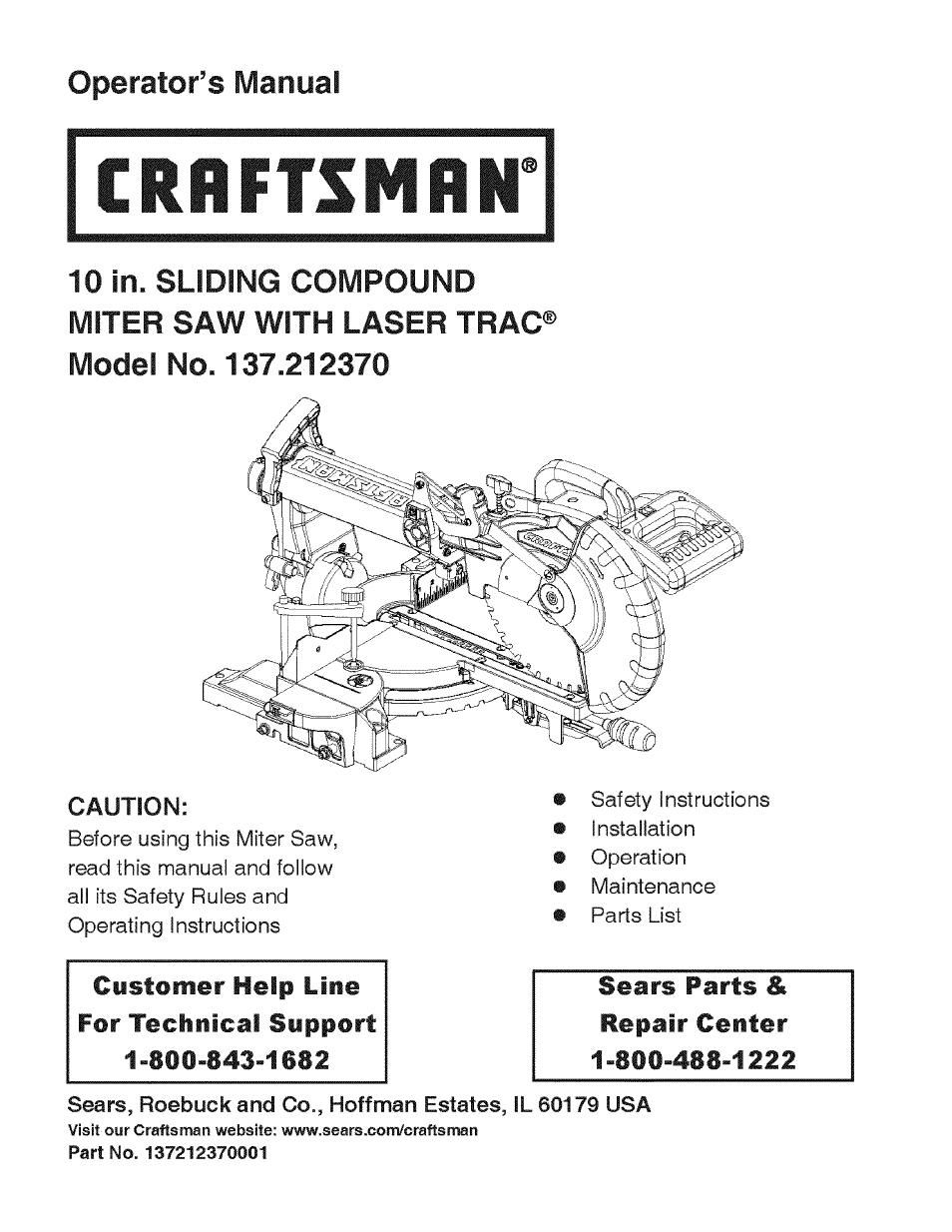 craftsman 137 212370 user manual 30 pages rh manualsdir com User Manual PDF User Manual Guide