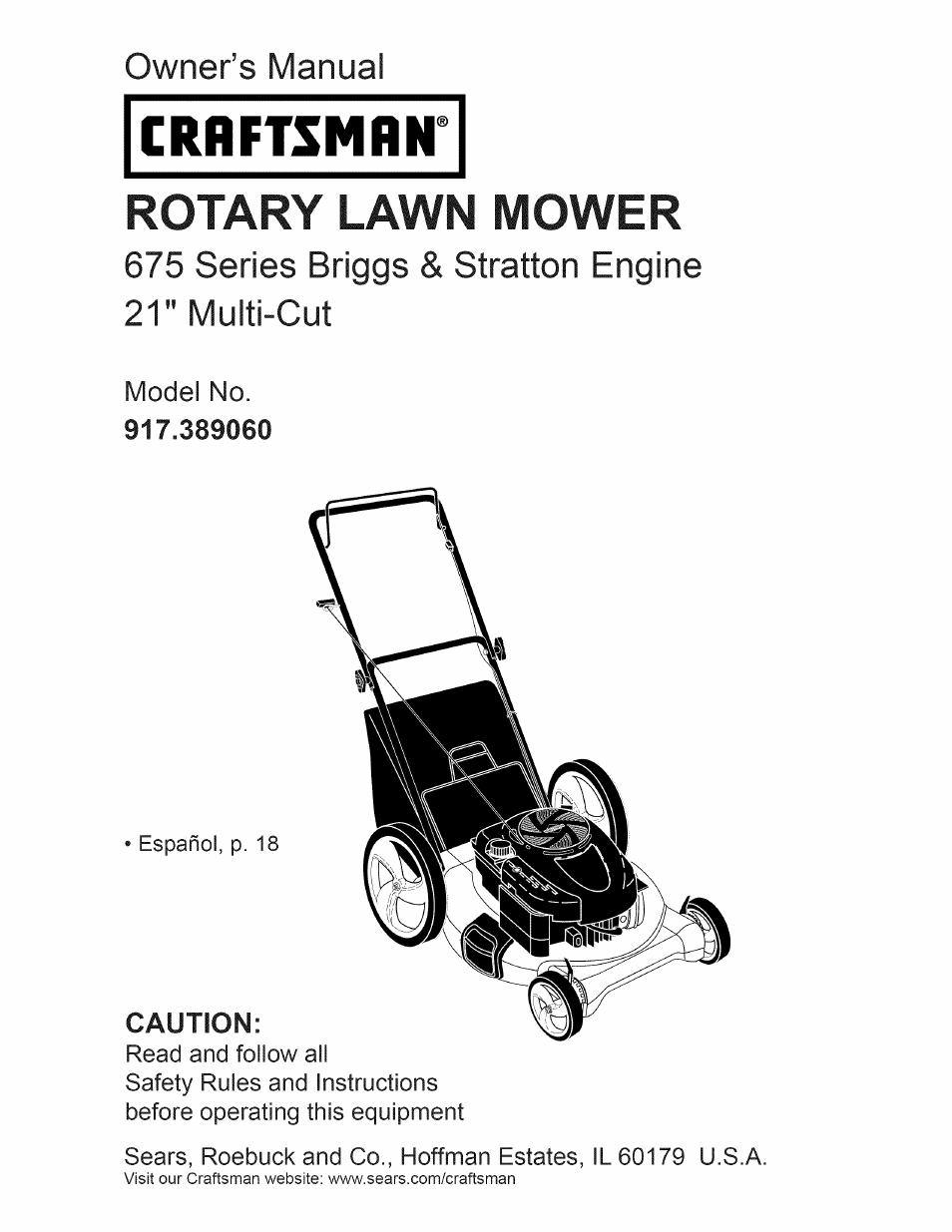 craftsman 917 389060 user manual 44 pages rh manualsdir com craftsman 675 lawn mower parts craftsman 675 series lawn mower parts