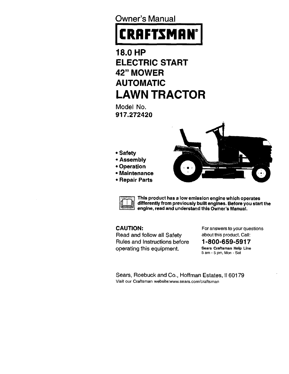 Craftsman 917 272420 User Manual