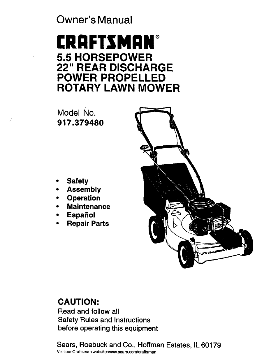 Craftsman 917 379480 User Manual