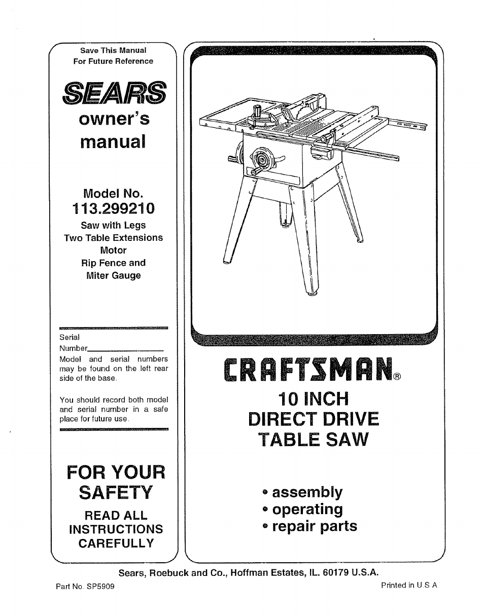 craftsman user manual 56 pages. Black Bedroom Furniture Sets. Home Design Ideas