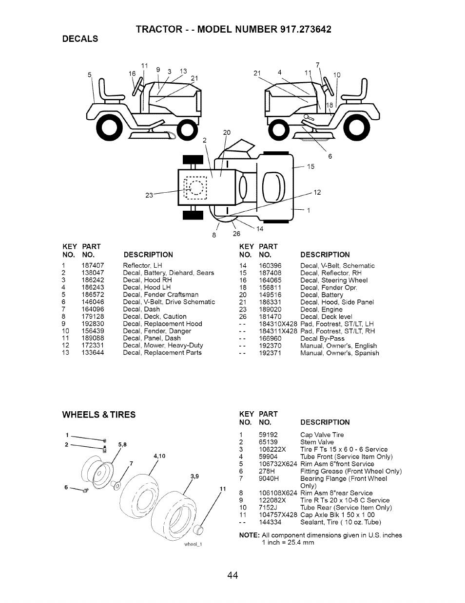 Craftsman Dyt 4000 Manual : Decals wheels tires craftsman dyt  user