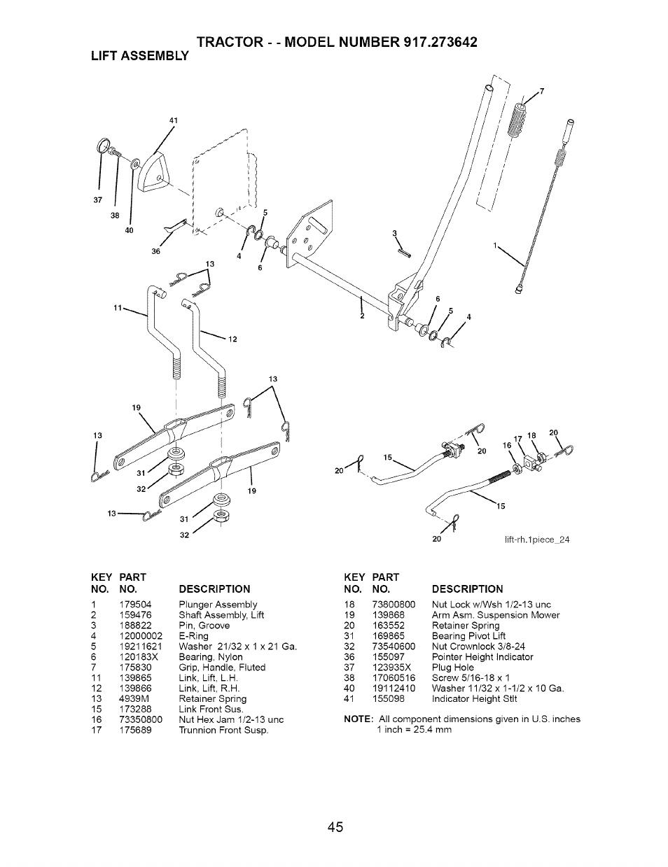 Craftsman Dyt 4000 Manual : Lift assembly craftsman dyt  user manual