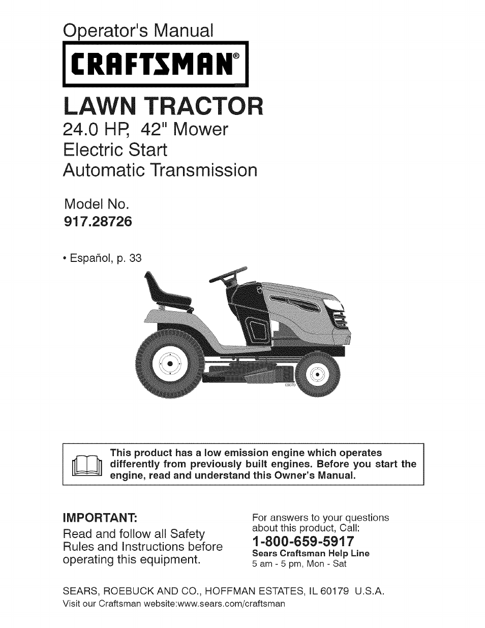 Craftsman 917 28726 User Manual